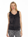 Maternity Sleeveless Chiffon Dressy Top - Black