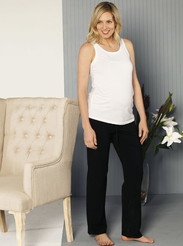 Angel Maternity Maternity Lounge Pant in Black