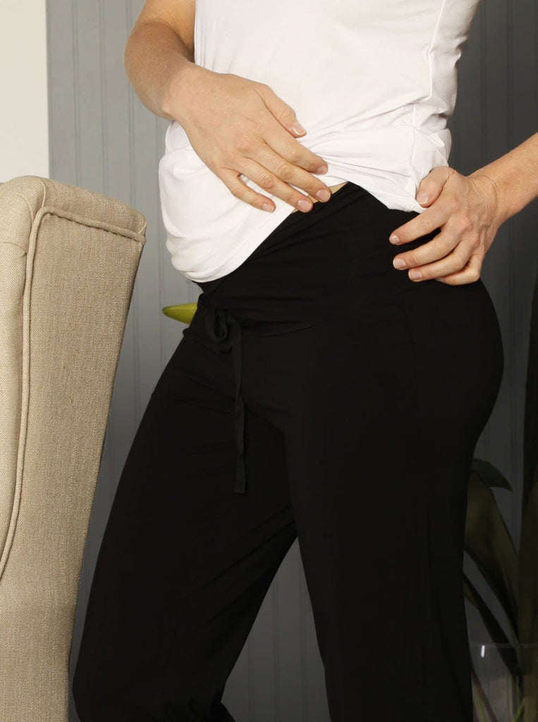 Maternity Lounge Casual Relax Fit Pant in Black - Angel Maternity - Maternity clothes - shop online