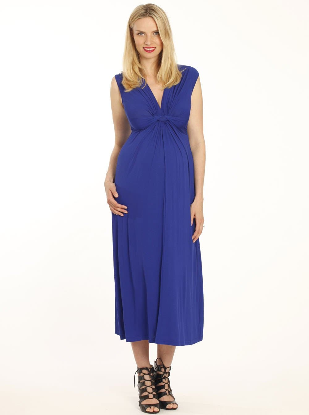 Irene Maternity Front Knot Maxi Dress - Dark Navy - Angel Maternity - Maternity clothes - shop online