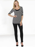 Maternity Fitted Cotton Pants in Black