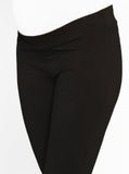Angel Maternity Fitted Cotton Twill Cropped Pants in Black