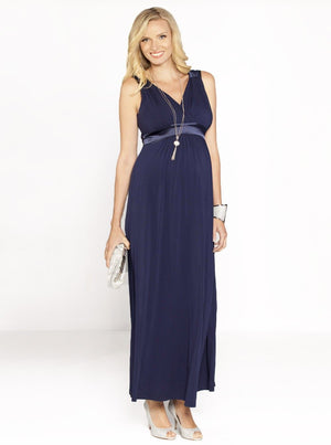 Maternity SUE Maternity Evening Dress in Dark Navy
