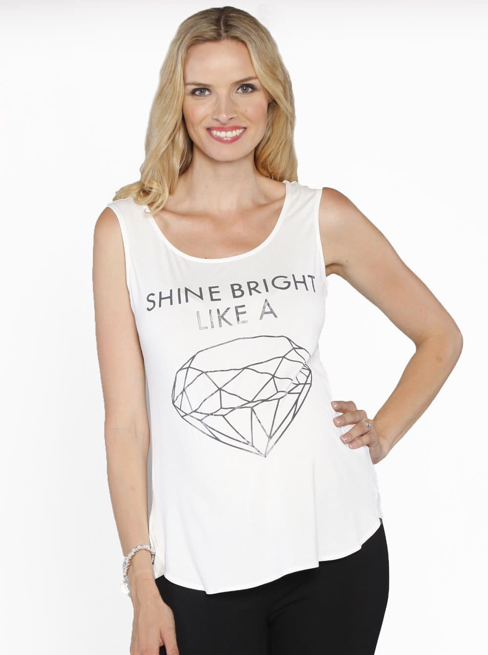 "Angel Maternity ""Shine Bright like a Diamond"" Sleeveless Tee"