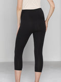 Angel Maternity Tummy Control Capri Built-In Shaping 3/4 Legging