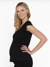 Angel Maternity Stretch Solution Top - Black/ White/ Red