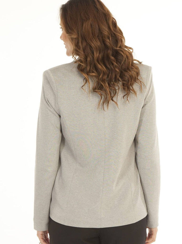 Maternity Button Front Ponti Jacket in Grey - Angel Maternity - Maternity clothes - shop online