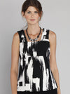 Maternity Little Dressy Sleeveless Top - Black & White Print - Angel Maternity - Maternity clothes - shop online
