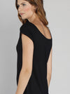 Angel Maternity Stretch Solution Long Tunic Top - Black