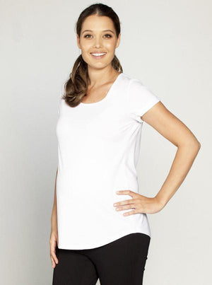 Angel Maternity Maternity Short Sleeve Tee - White/ Grey/ Black/ Navy