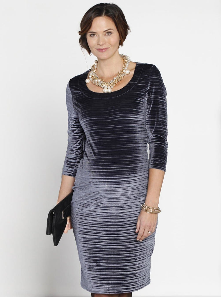 Maternity Long Sleeve Fitted Party Evening Dress