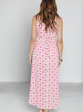 Angel Maternity Party Chiffon Dress - Pink Stars