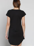 Angel Maternity Loose Fit Night Sleepwear Dress - Black