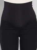 Angel Maternity High Waist Maternity Straight Leg Pants in Black