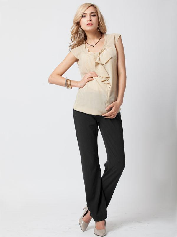 Angel Maternity Pants in Straight Cut - Dark Grey