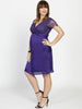 Angel Maternity Emily Maternity Mid Length Lace Party Dress - Violet