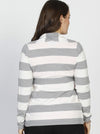 Lightweight Knitted Maternity Cardigan with Waist Tie - Stripes - Angel Maternity - Maternity clothes - shop online