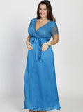 Maternity Formal Party Lace Dress - Teal - Angel Maternity - Maternity clothes - shop online