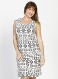 Angel Maternity Busy Mummy Sleeveless Nursing Dress in Egyptian Print