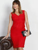 Angel Maternity Sleeveless Ponti Party Nursing Dress - Lady in Red
