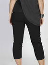 Maternity Cropped Stretchy Capri Pants in Black - Angel Maternity - Maternity clothes - shop online