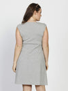 Lucy Maternity Cap Sleeve Little Cotton Dress - Grey - Angel Maternity - Maternity clothes - shop online