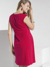 Lucy Maternity Cap Sleeve Little Cotton Dress - Hot Pink - Angel Maternity - Maternity clothes - shop online