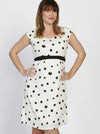 Angel Maternity Tie Back Short Sleeve Chiffon Dress - Spots