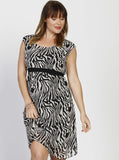 Angel Maternity Tie Back Short Sleeve Summer Dress - Leopard Print
