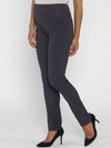 Angel Maternity Mid Waist Maternity Straight Leg Pants in Dark Grey