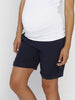 Maternity Linen High Waist Shorts in Dark Navy - Angel Maternity - Maternity clothes - shop online