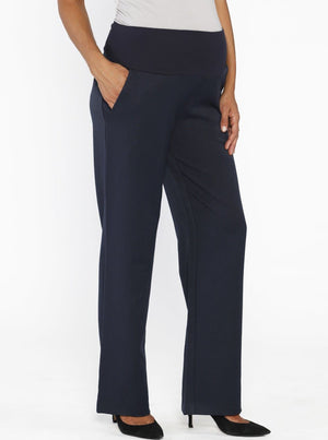 Comfort Fit Maternity Work Pants in Corporate Navy - Angel Maternity - Maternity clothes - shop online