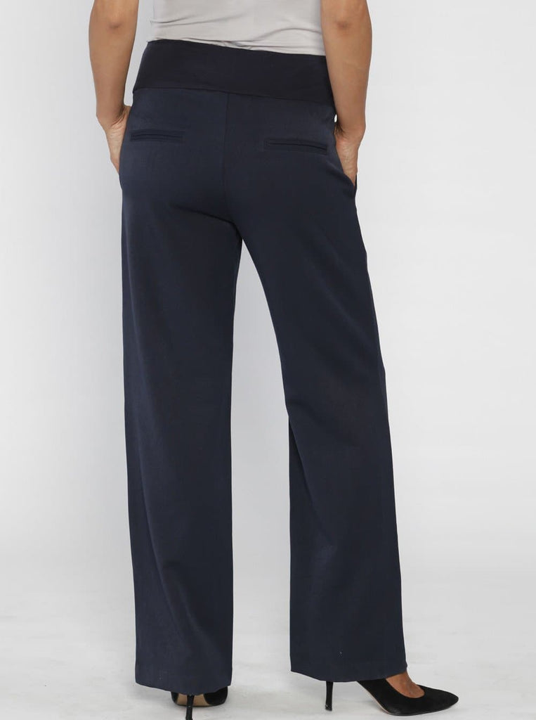 Angel Maternity Comfort Fit Maternity Work Pants in Corporate Navy