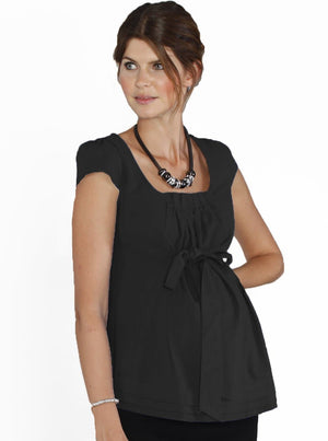 Maternity Sweet Tie Front Work Top