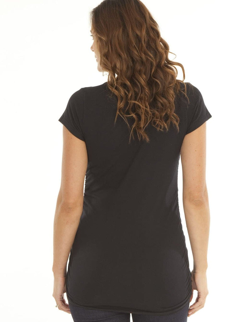 Angel Maternity Hands off the Bump fitted Tee - Black