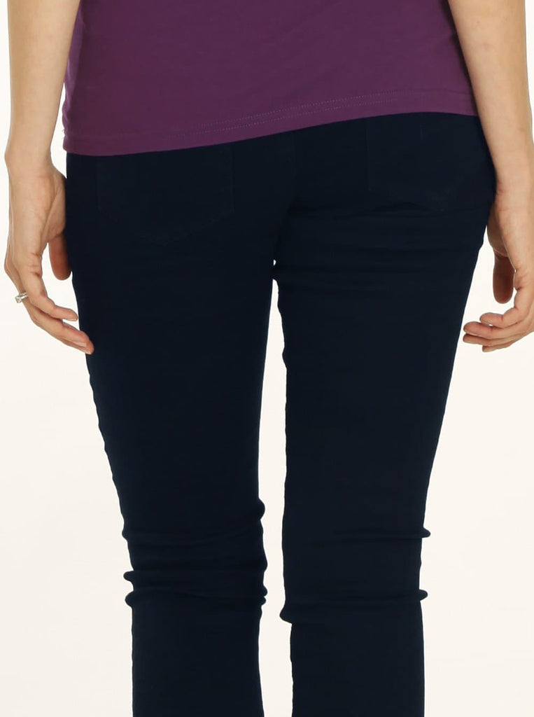 Angel Maternity Comfortable Stretch Slim Jeans in Navy