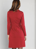 Angel Maternity Mock Wrap Dress - Red