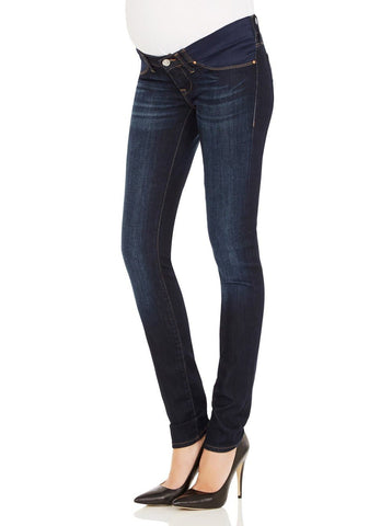 Maternity High Waist Tummy Support Deluxe Jegging - Denim