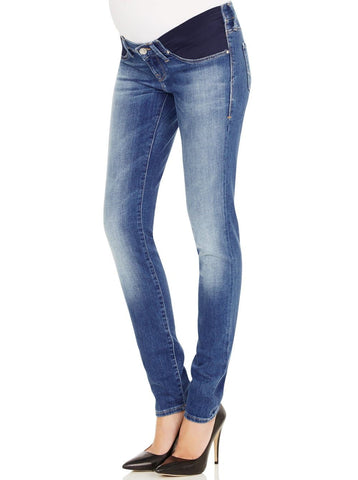 Maternity Comfortable Stretch Slim Jeans in Navy