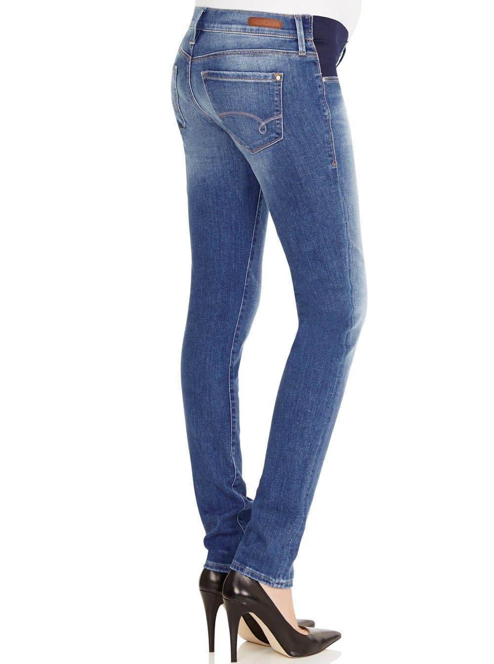 Jessica - MAVI Nolita Stretch Slim Maternity Jeans - Blue - Angel Maternity - Maternity clothes - shop online