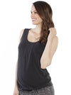Maternity Sleeveless Modal Work Top - Black