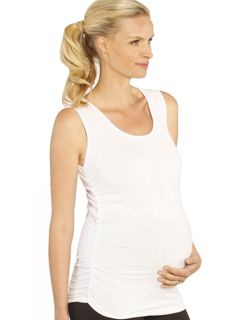 Basic Maternity Cotton Tank - Black/ Blue/ White/ Navy/ Grey - Angel Maternity - Maternity clothes - shop online