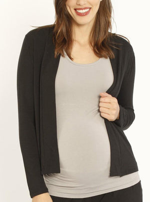 Maternity Bamboo Cardigan - Black Charcoal