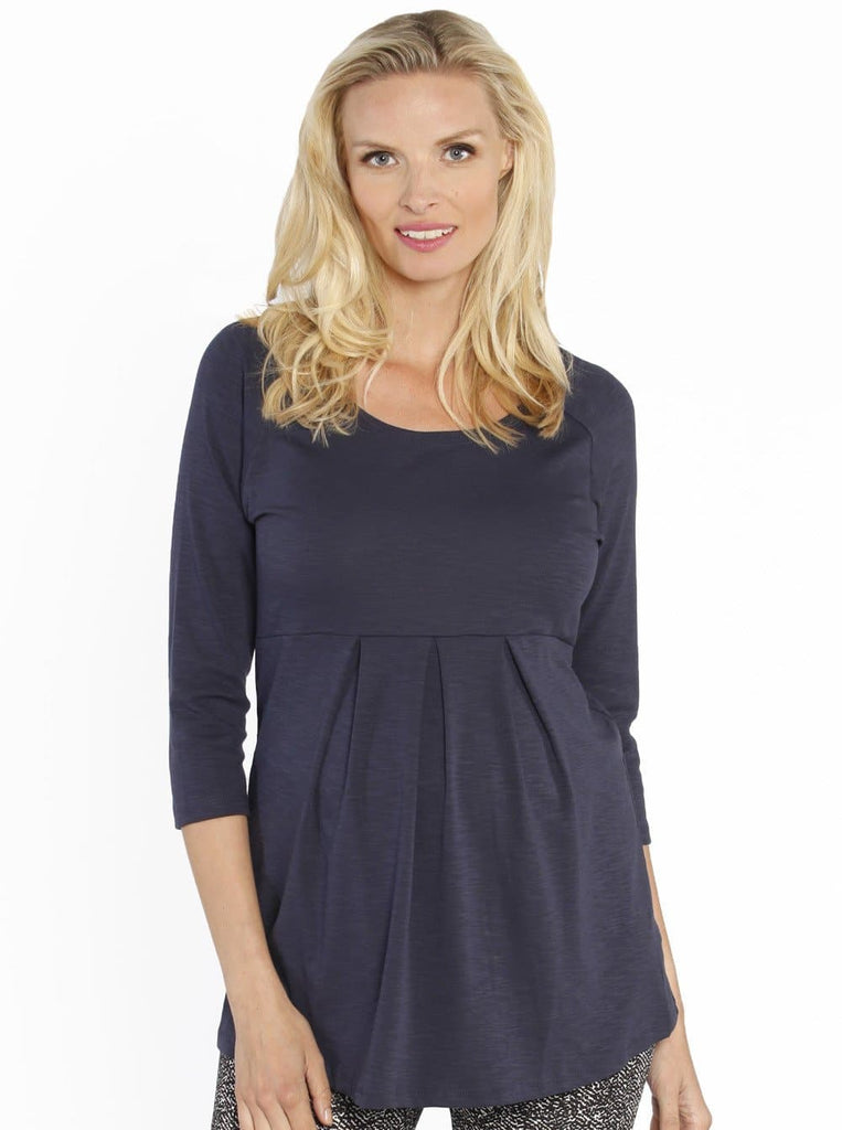 3eccd108a4 Lucy Maternity Half Sleeve Little Cotton Tunic Top - Navy – Angel Maternity