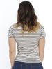 Basic Maternity Body Hugging Stretchy Tee - Grey Stripes - Angel Maternity - Maternity clothes - shop online