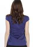 Sweet Tie Front Maternity Top in Navy & Pink Spots back
