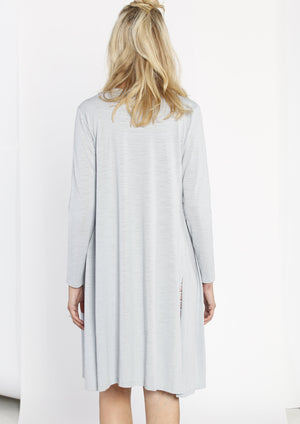 Maternity Long Lounge Light Weight Cardigan in Blue - Angel Maternity - Maternity clothes - shop online