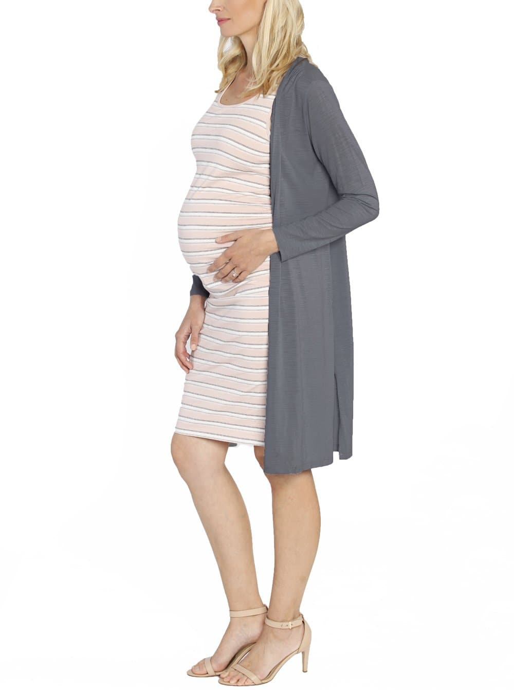 Maternity Long Lounge Cardigan in Denim Navy - Angel Maternity - Maternity clothes - shop online