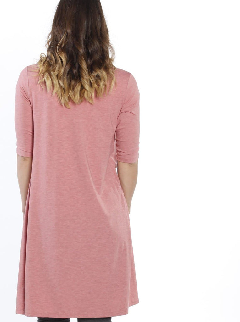 Maternity Long Lounge Cardigan in Dusty Red - Angel Maternity - Maternity clothes - shop online
