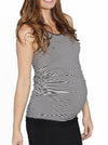 Reversible Maternity Sleeveless Top in Black/ Stripes - Angel Maternity - Maternity clothes - shop online